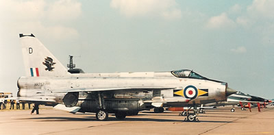 F.6 XR757 'D' on the flightline at Binbrook Open Day in 1975
